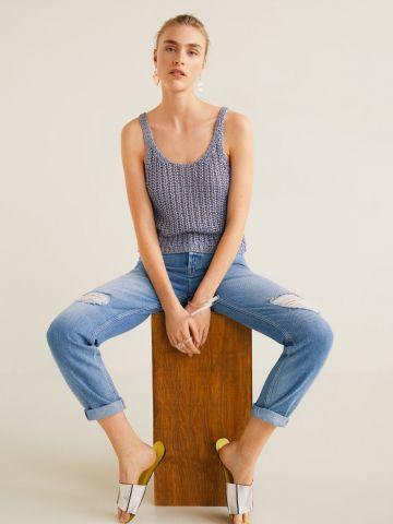 ג'ינס ווש עם קרעים