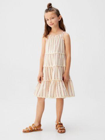 שמלת קומות בהדפס פסים