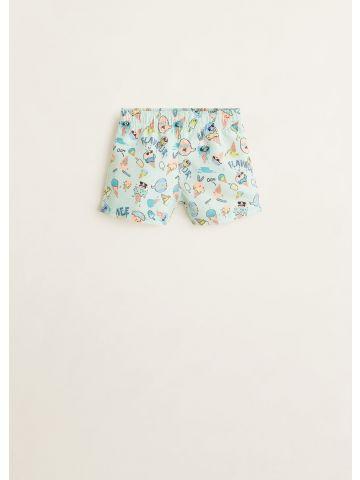 מכנסי בגד ים בהדפס גלידות/ בייבי בנים