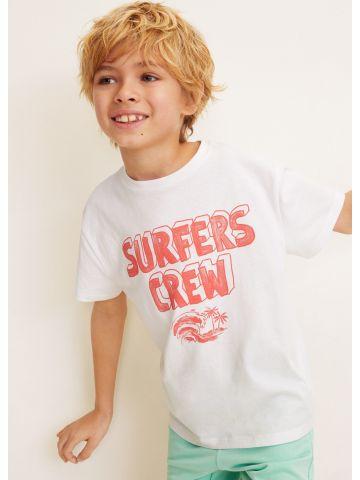 טי שירט עם הדפס Surfers Crew