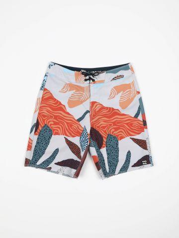 מכנסי בגד ים בהדפס עלים / בנים