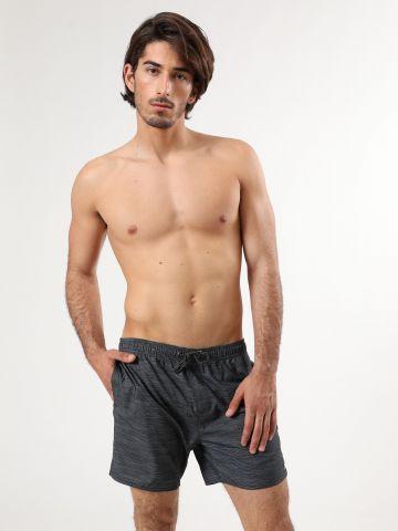 מכנסי בגד ים בהדפס פסים דקים
