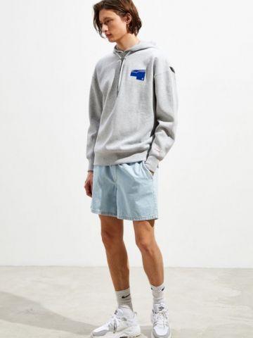 ג'ינס קצר ווש עם גומי במותן BDG