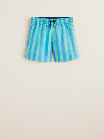 מכנסי בגד ים בהדפס פסים / בנים