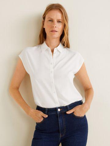 חולצה מכופתרת עם שרוולים קצרים