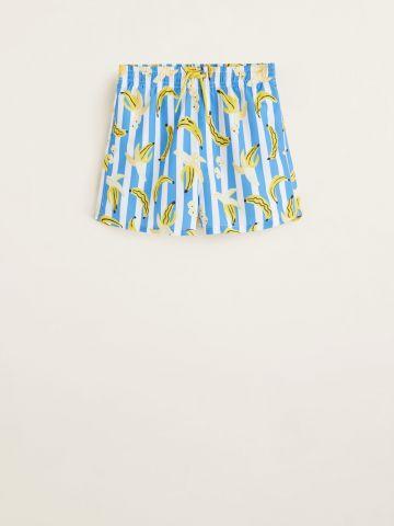 מכנסי בגד ים בהדפס בננות / בנים