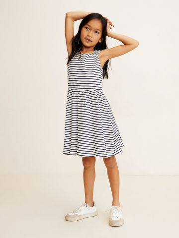 שמלת גופייה בהדפס פסים / בנות