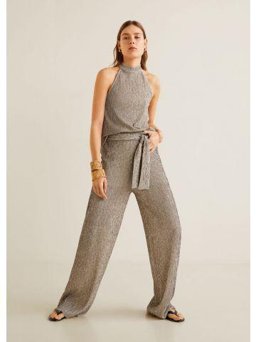 מכנסי סריג עם חגורת קשירה