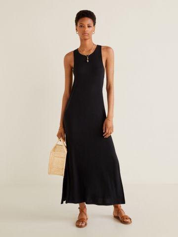 שמלת מקסי עם סלסול בגב