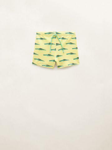 מכנסי בגד ים בהדפס קרוקודיל / בייבי בנים