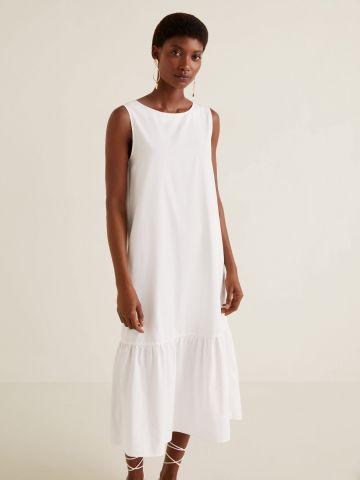 שמלת מידי עם פפלום נמוך