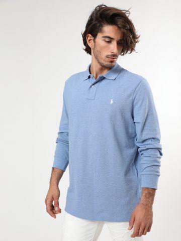 חולצת פולו שרוולים ארוכים עם רקמת לוגו Classic fit
