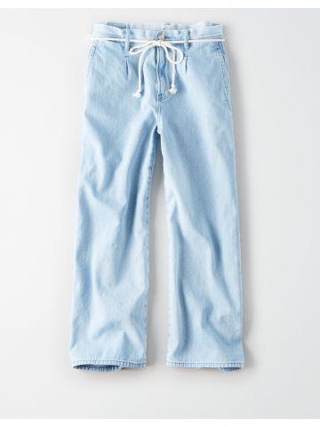 ג'ינס רחב בשטיפה בהירה Wide Leg Chase / נשים של AMERICAN EAGLE