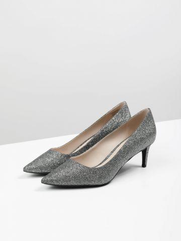 נעלי עקב גליטר עם קצה מחודד