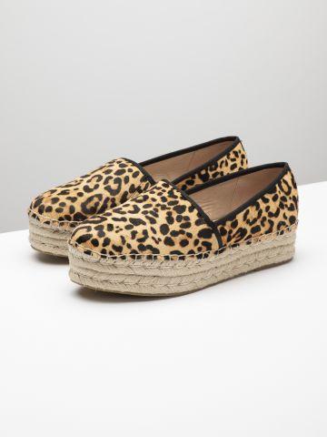 נעלי פלטפורמה אספדריל בסגנון מנומר