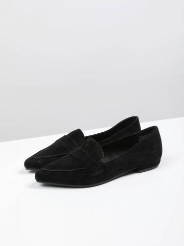 נעלי מוקסין זמש מחודדות