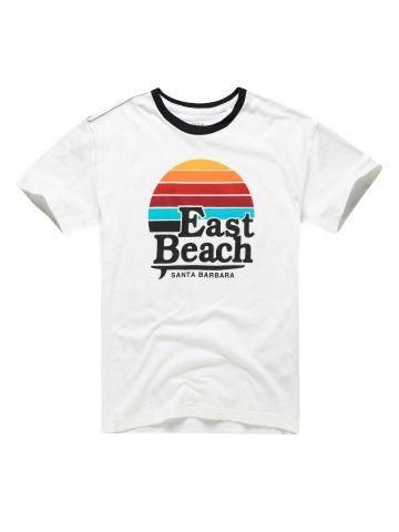 חולצה עם הדפס east beach / בנים