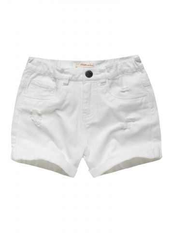 ג'ינס קצר עם עיטורי קרעים / בנות