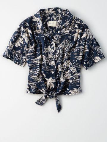 חולצת קשירה בהדפס עצים / נשים של AMERICAN EAGLE