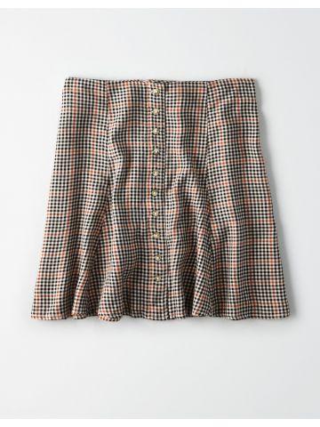 חצאית מיני בהדפס משבצות / נשים