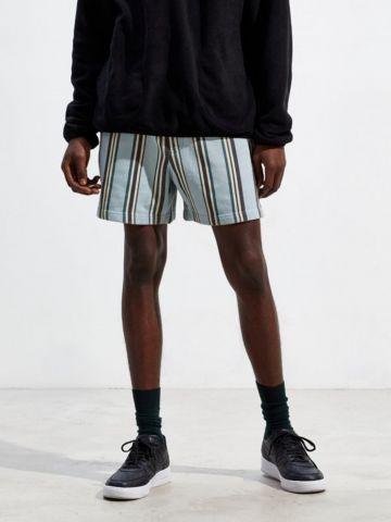 מכנסיים קצרים בהדפס פסים UO Lucien