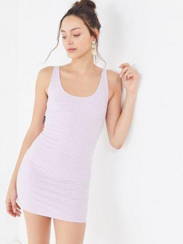 שמלת מיני בהדפס משבצות UO