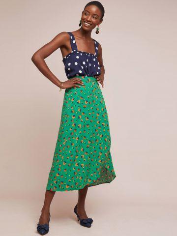 חצאית מעטפת מקסי בהדפס תותים 52 Conversations