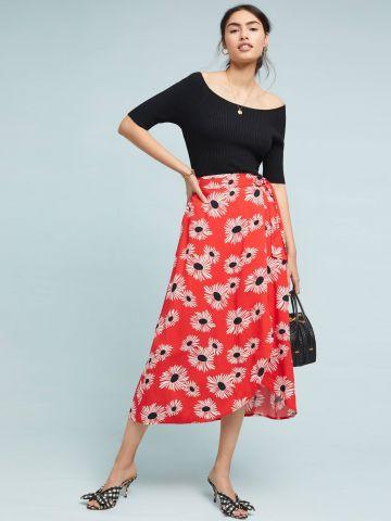 חצאית מעטפת מקסי בהדפס פרחים 52 Conversations