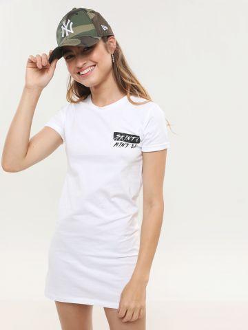 שמלת טי שירט מיני עם הדפס נשר של SKINT & MINTED