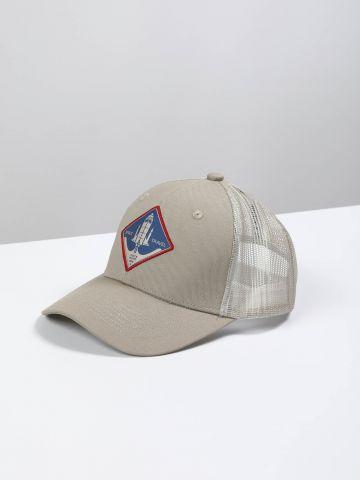 כובע מצחייה עם הדפס חללית / גברים
