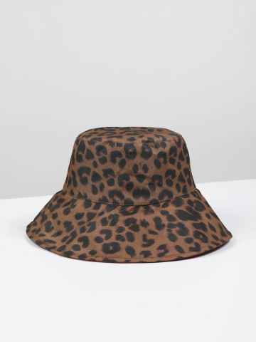 כובע באקט מנומר דו צדדי
