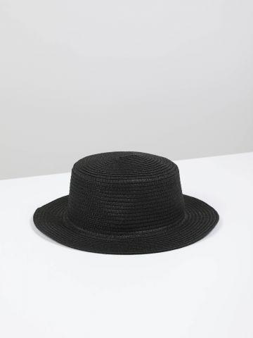 כובע קש צר שוליים של TERMINAL X