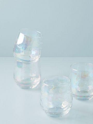 מארז 4 כוסות יין נמוכות מזכוכית Gather