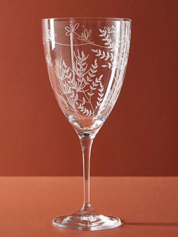 כוס יין מזכוכית קריסטל בשילוב עיטורים
