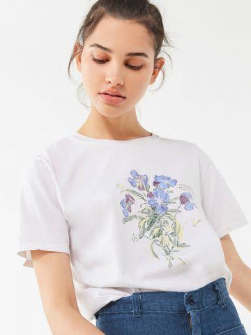 טי שירט עם הדפס פרחים Project Social T