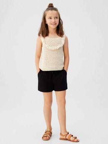 מכנסיים קצרים עם גומי במותן / בנות