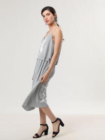 חצאית ריב מידי באפקט מטאלי