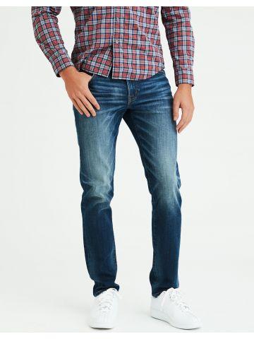 ג'ינס סלים בשטיפה כהה עם ווש