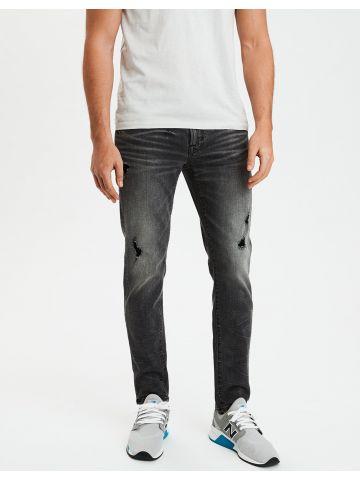 ג'ינס סקיני עם ווש וקרעים Skinny של AMERICAN EAGLE