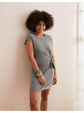 שמלת מלאנז' מיני עם קשירה