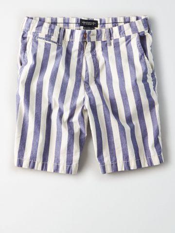 מכנסי צ'ינו קצרים בהדפס פסים / גברים של AMERICAN EAGLE