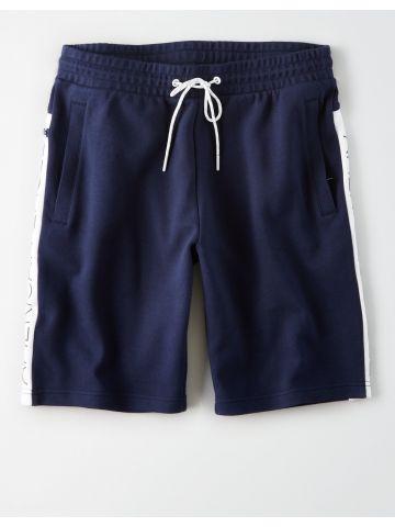 מכנסי טרנינג קצרים עם סטריפים לוגו / גברים
