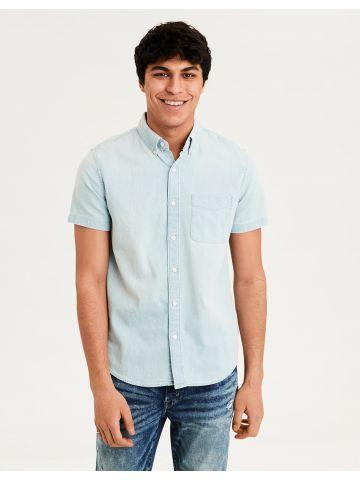 חולצת ג'ינס בשטיפה בהירה