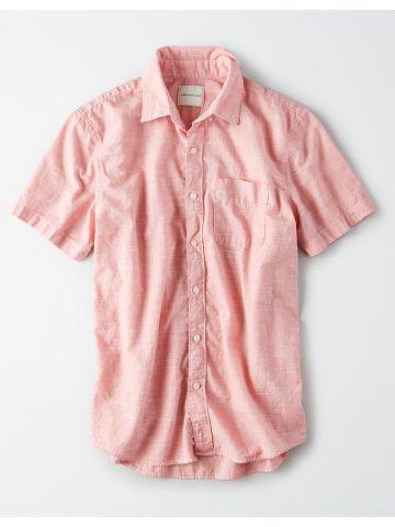 חולצה מכופתרת מלאנז' / גברים