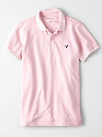 חולצת פולו עם לוגו / גברים