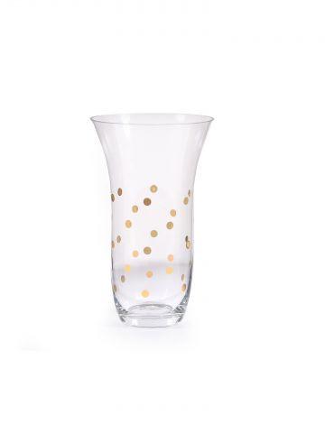 אגרטל זכוכית gold dots