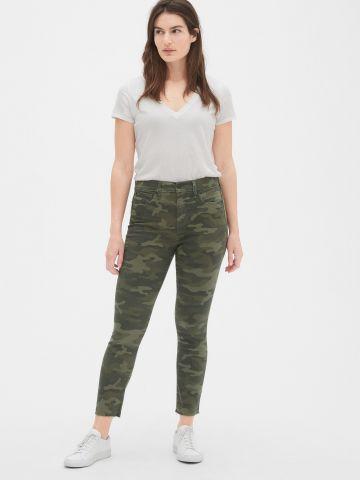 ג'ינס סקיני בהדפס קמופלאז'