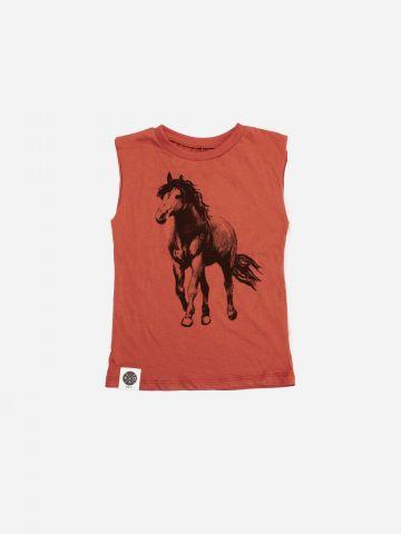 גופייה עם הדפס סוס / בנים