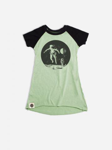 שמלת בייסבול עם הדפס אסטרונאוט / בנות