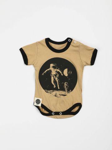 בגד גוף אסטרונאוט עם שרוולים קצרים / בייבי בנים